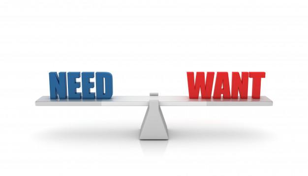 perbedaan kebutuhan dan keinginan