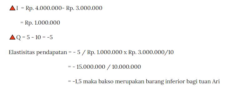 Contoh kasus elastisitas pendapatan