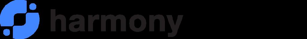 Logo harmony services 1 blue black
