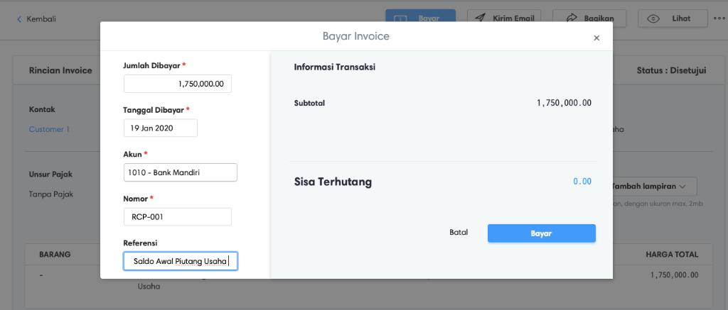 Pembayaran invoice