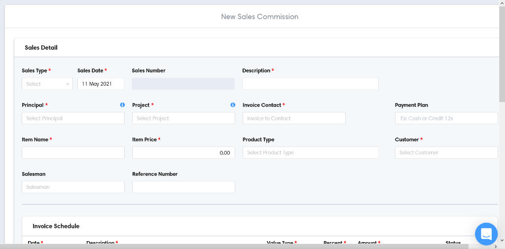 New sales commission