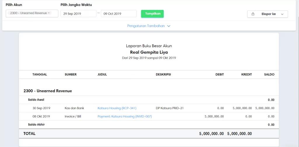 Mengecek saldo down payment
