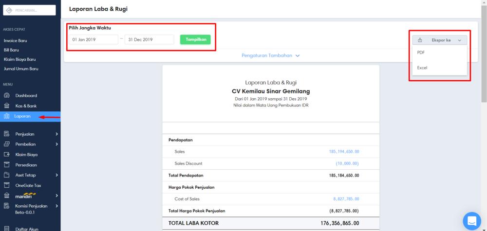 Download laporan keuangan
